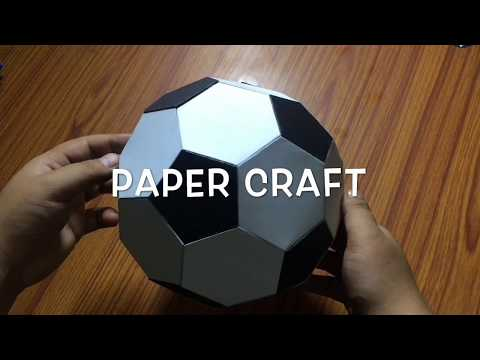 How To Make paper Soccer Ball | Paper Craft