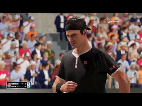 AO Tennis 2 – Roger Federer vs novak djokovic- Wimbledon 2020 — Gameplay PC 1080p HD