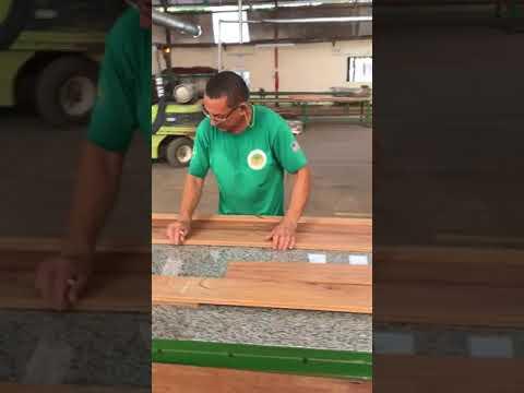 Making Hardwood Flooring in Cumaru (Brazilian Teak)