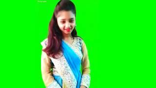 Beautiful Young Girl Dancing Green Screen Chroma Key Dance Green Background