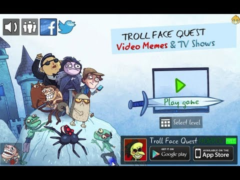 Trollface Quest Video Memes and TV Shows (76 Levels + 1 bonus)