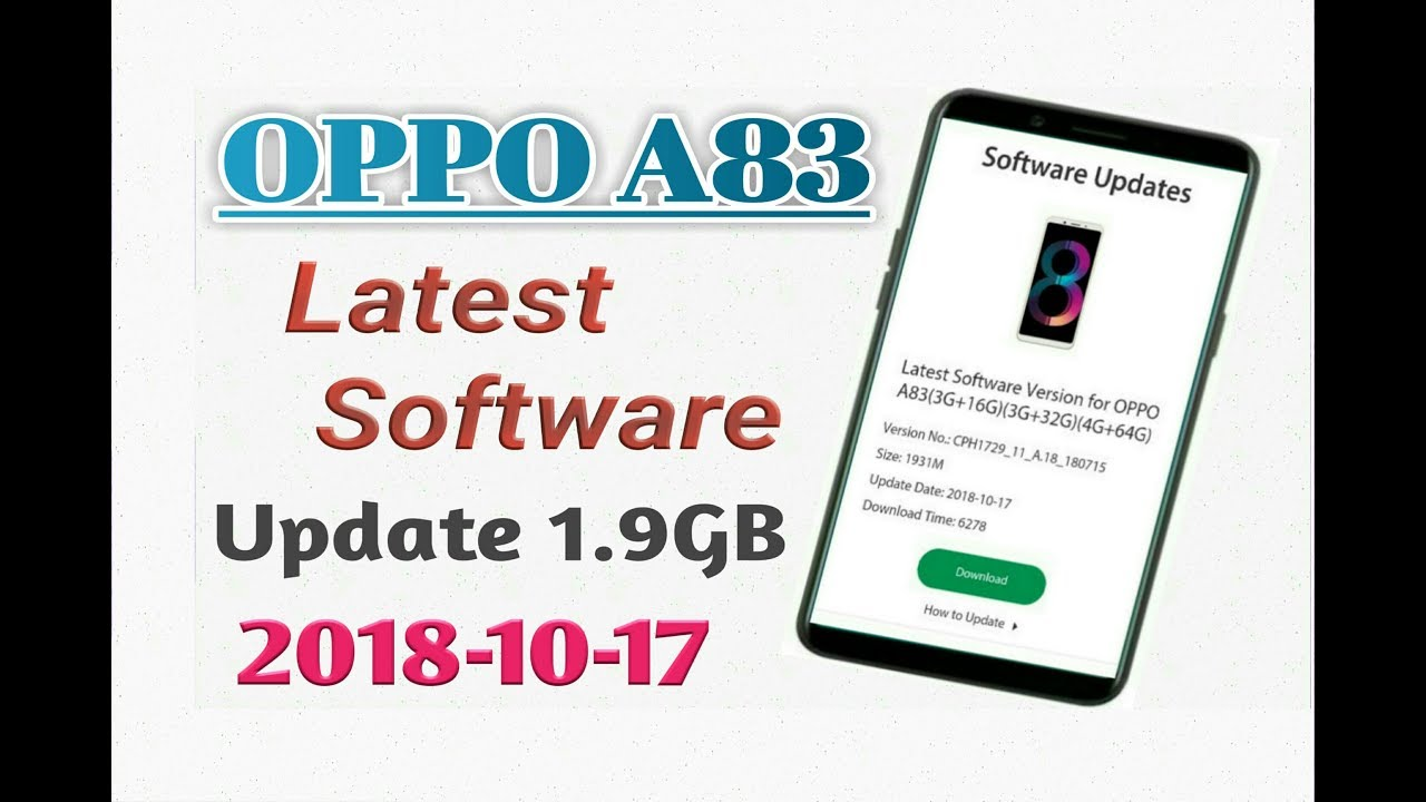 Oppo A83 Software Update Oreo