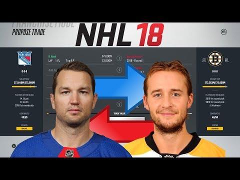 NHL 18 - RICK NASH TO BOSTON TRADE SIMULATION