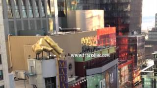 Suicide Jumper After Being Talked Off Ledge 42nd Street New York NYC Dave and Busters