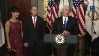 Vice President Mike Pence Participates in the Swearing-In of Mick Mulvaney