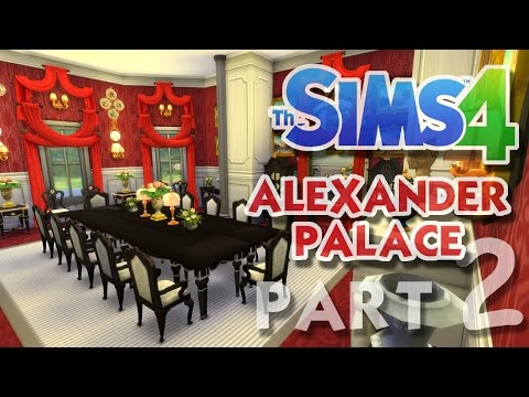 The Sims 4 House Building: Alexander Palace - Part 2 - DINING HALL! (Real Time)