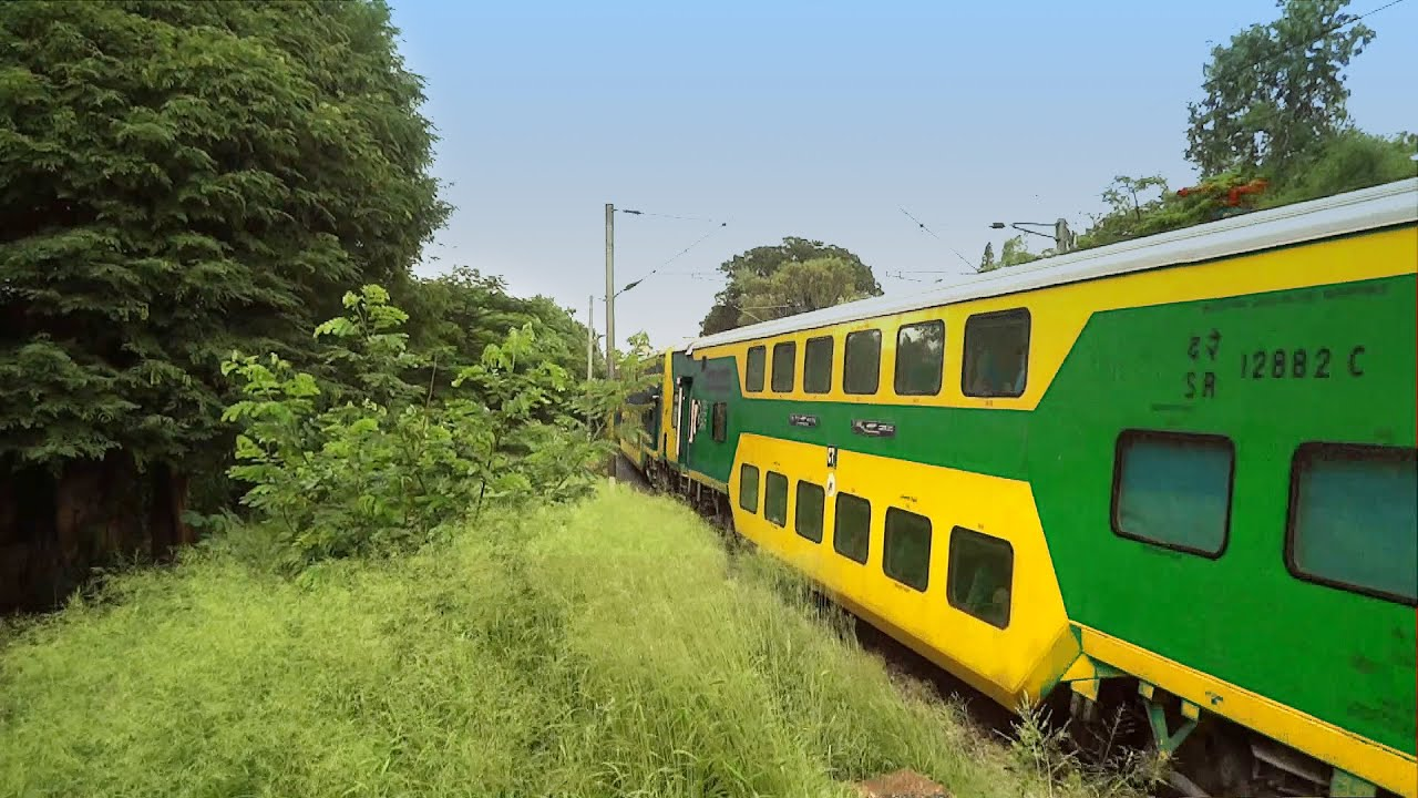 The GREEN Double Decker Train : Indian Railways - YouTube
