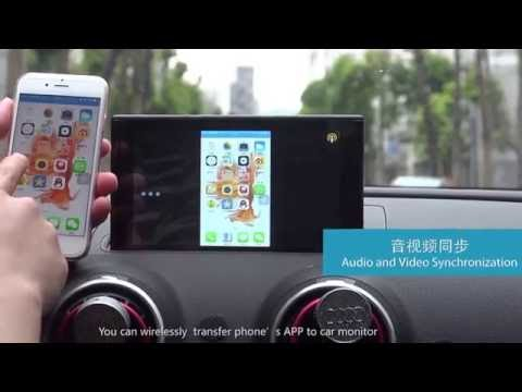 Carphone Android  car multimedia  video interface entertainment for Audi A3.