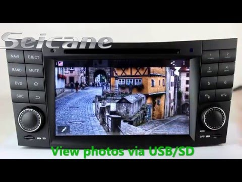 Latest 2002-2008 Mercedes W211 E200 E220 stereo upgrade with Sat Nav cd radio support HD TV