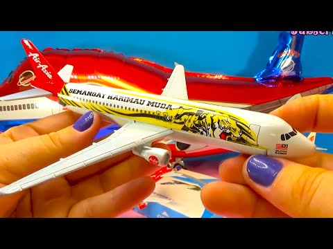 UNBOXING BEST PLANES:  Airbus 380 Asia Boeing 737 Nok Malaysia models
