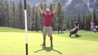 Golfing at the Banff Springs Golf Course. Local style!!