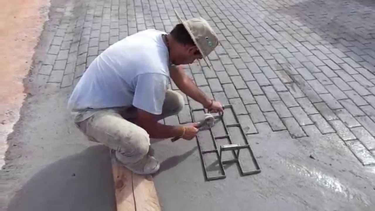 Bloquete em piso de concreto youtube - Como hacer brillar el piso de cemento ...
