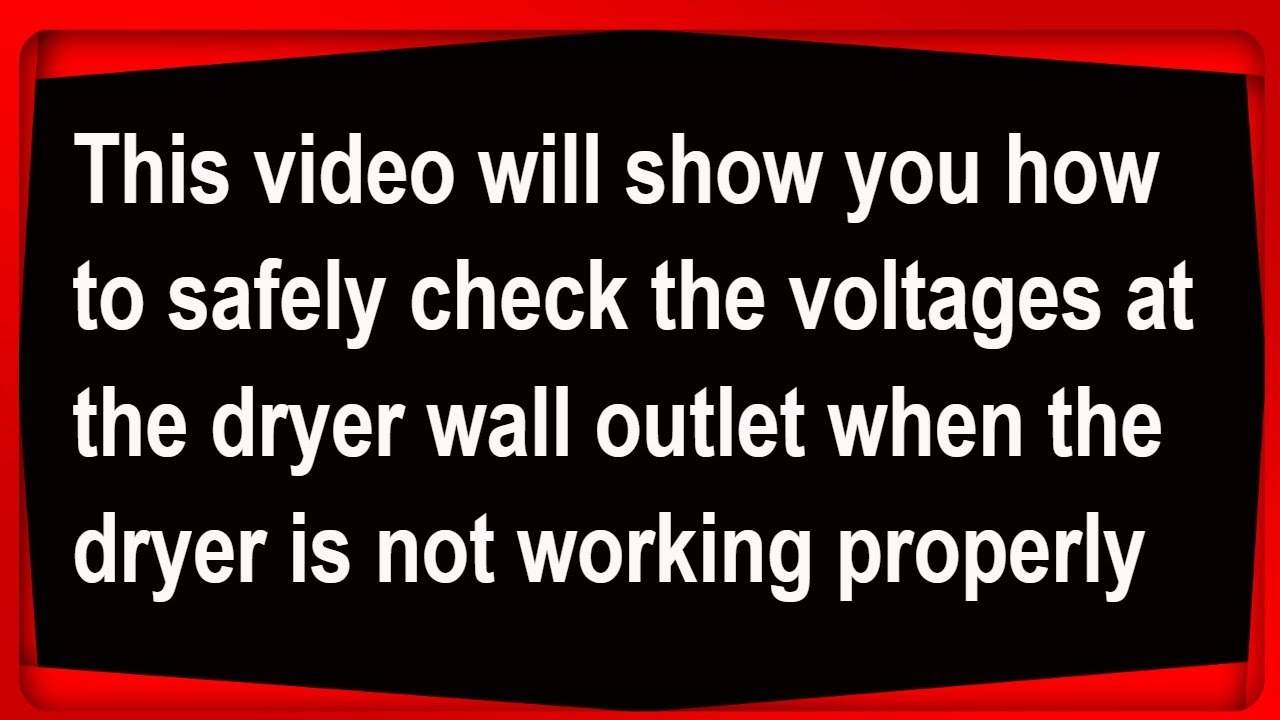 Voltages in a dryer wall outlet - YouTube