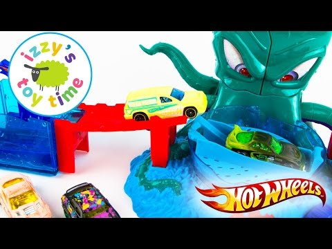 Cars for Kids - Hot Wheels Color Shifters OctoBattle Playset - Fun Toy Cars for Kids - 동영상