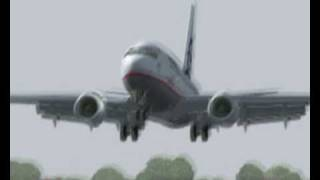 Boeing 737-700 landing in germany (3 different views) fs2004