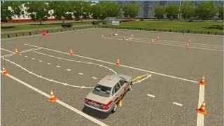 Экзамен на автодроме   Разворот в ограниченном пространстве ошибка в видео описана в комментарии