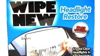 As Seen On TV, Rust-Oleum Wipe New Headlight Restore Review.