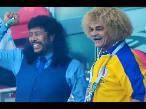 Higuita y Valderrama se funden en un abrazo por el triunfo deColombia
