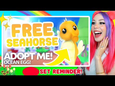 How to get a FREE SEAHORSE In Roblox Adopt Me!