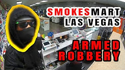Armed robbery at Smokes Mart store in Las Vegas caught on tape.