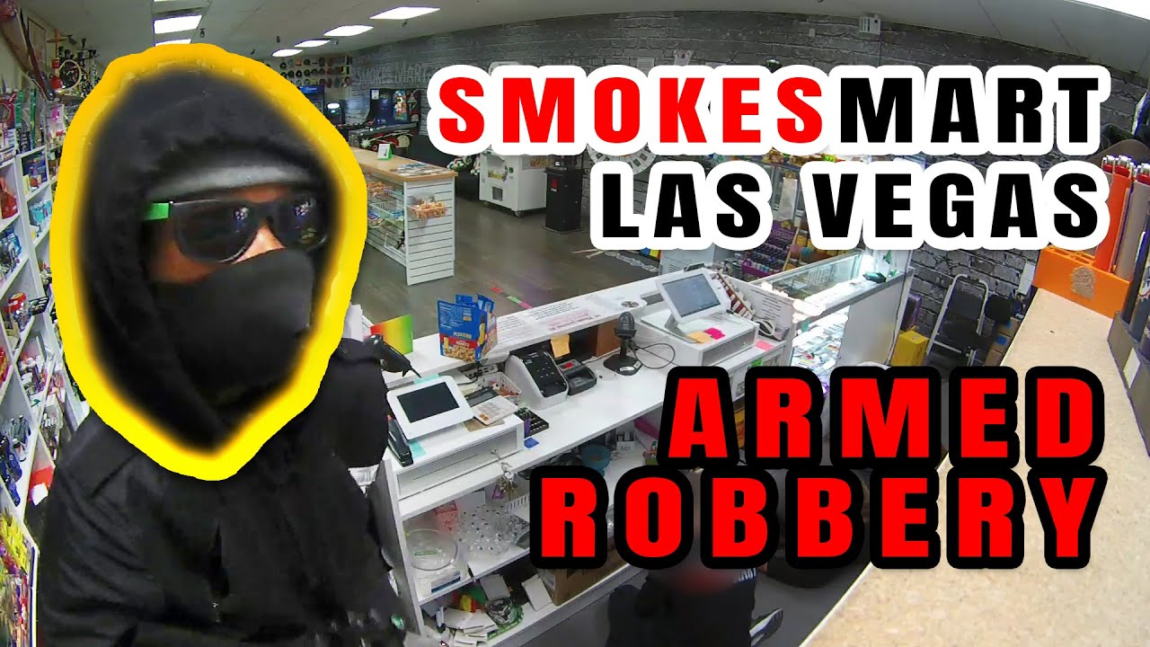 Download Armed robbery at Smokes Mart store in Las Vegas caught on tape.