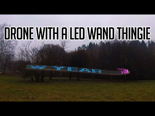 Light Painting LED-text wand-stick-thingie... with a race drone