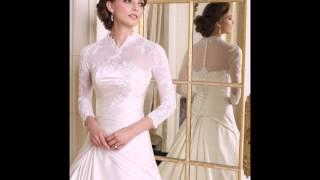 Зимние платья для невест с рукавами