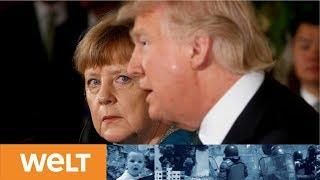 Schwerer Gang für Merkel: Bundeskanzlerin trifft Donald Trump im Weißen Haus