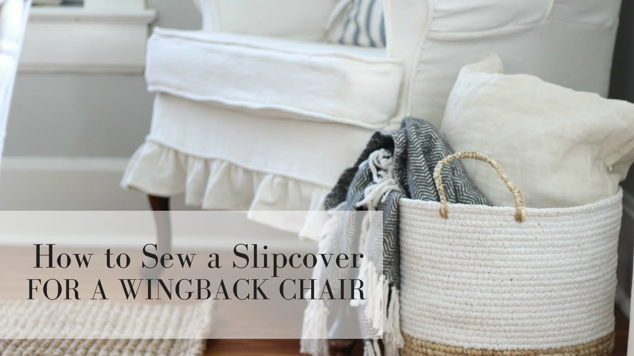 How To Make Slipcover For Wingback Chair Stretch Slipcovers Chairs A Youtube