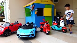 전동차 사세요! 예준이의 가게놀이 전동 자동차 오토바이 조립놀이 Car Toy Video for Kids Power Wheels