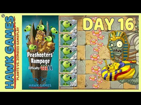 Peashooters' Rampage Ancient Egypt 🏺 - Plants vs Zombies 2 🌻 - Day 16 (Flowers)