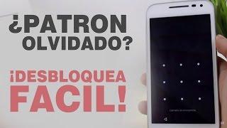 Como desbloquear móvil Android con PATRÓN BLOQUEADO | 2018