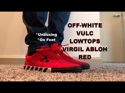 Off-White Vulc Low Top RED Virgil Abloh
