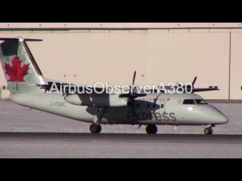 Air Canada Express Dash-8 Landing at Ottawa Int'l Airport