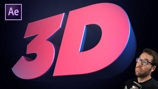 بعد تأثيرات 3D الرسوم المتحركة النص التعليمي لا الإضافات! | Greyscalegorilla