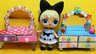 Куклы LOL SURPRISE.  Мебель  в дом для кукол ЛОЛ своими руками.