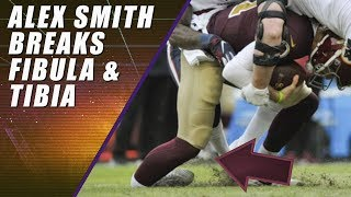 Alex Smith Gruesome Leg Injury: Same Day as Joe Theismann