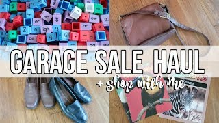 GARAGE SALE HAUL   SHOP WITH ME   AMAZING FINDS!!!