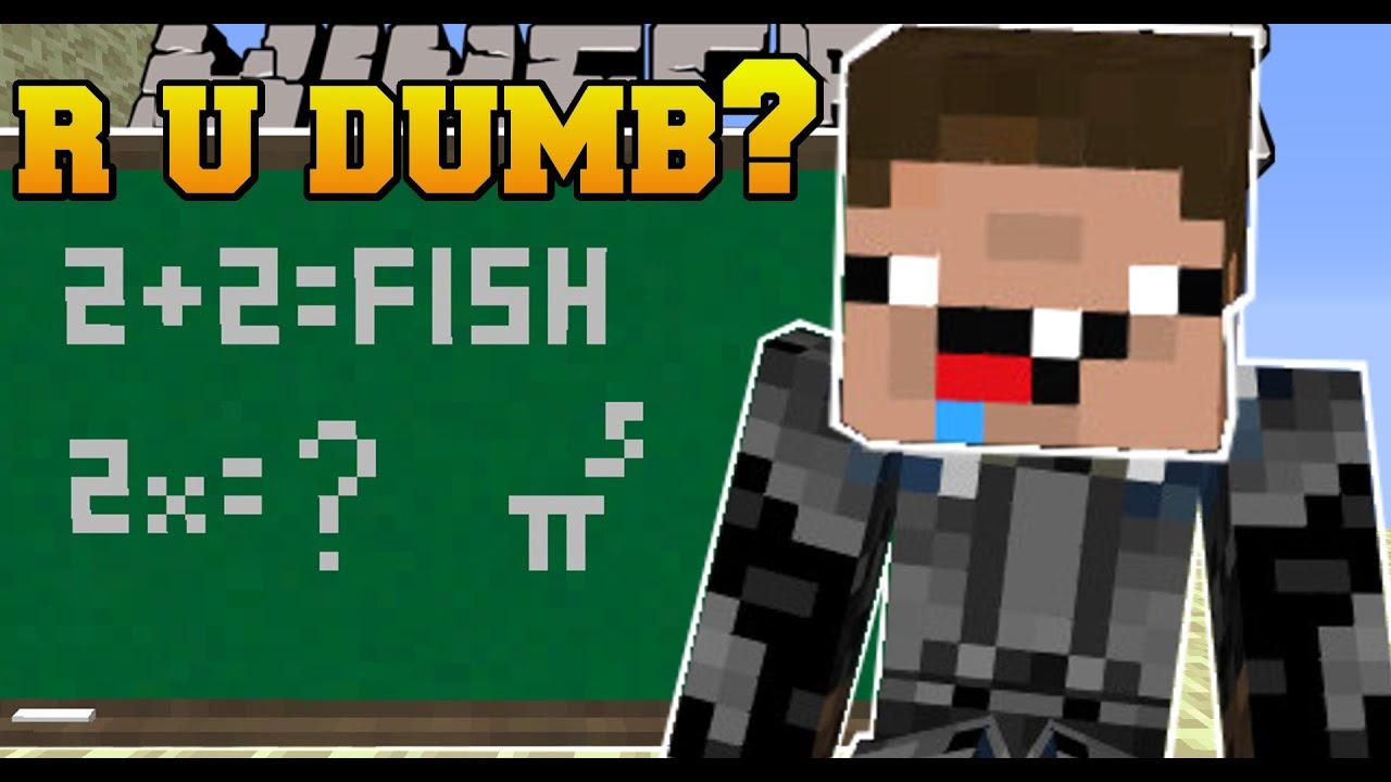 Minecraft r u dumb 10 impossible questions custom map youtube sciox Images
