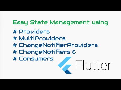 #Google's Flutter Tutorial - Easy State Management using Providers in Flutter (coderzheaven.com)
