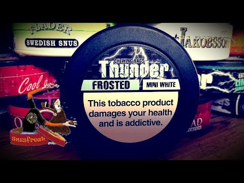 Chewing Bags Marathon#10 - Thunder Frosted mini white I Snusfreak.com