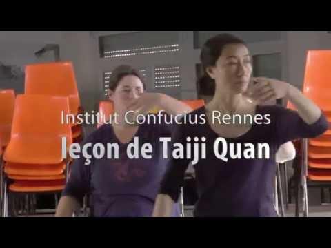 Leçon de Taiji Quan à L'Institut Confucius de Bretagne