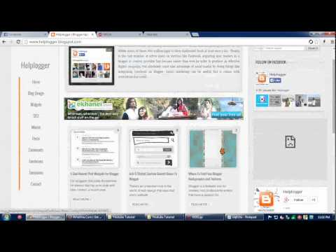 Download a Professional Blogger Template Free Adsense Supported Part 2