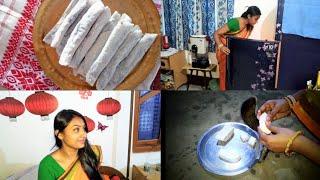 Sasural Mai Subhe Se Sham Tak||Traditional Towel,Teel pitha ||Indiangirlchumki