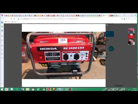 Обман с генератором. Поддельный HONDA EG 5500 CXS. Как люди попадают на деньги.