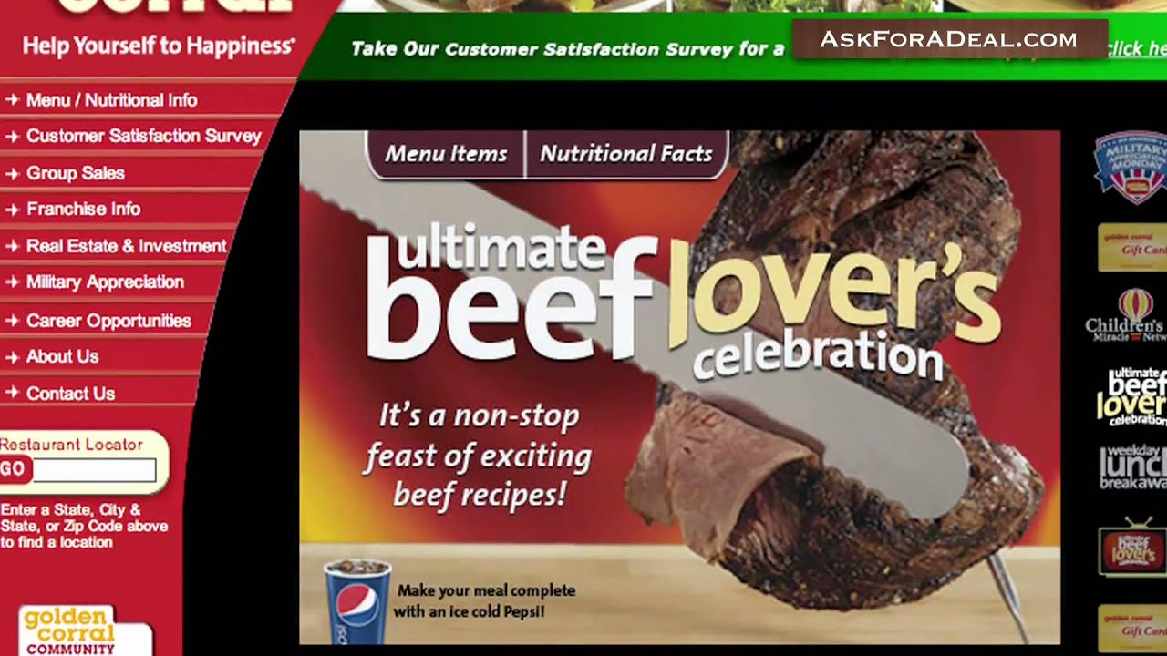Golden corral coupons buy one get one free
