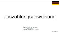 How to pronounce: Auszahlungsanweisung (German)