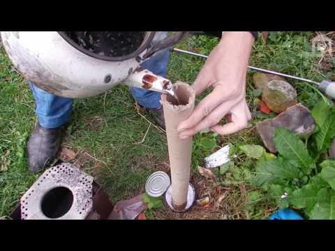 что будет если свинец залить в бумажную (картонную) трубу