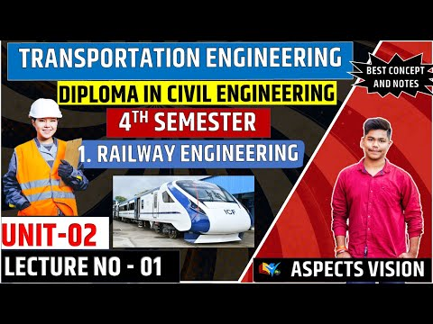 Transportation Engineering Unit-2 Lecture No-1 Railway Engineering  Civil 4th Semester SBTE Bihar
