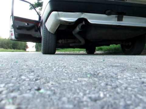 Audi 100 quattro TDi c3 straight pipe exhaust sound